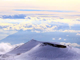 Dormant crater of Etna. Sicily, Italy. Time Lapse. Footage