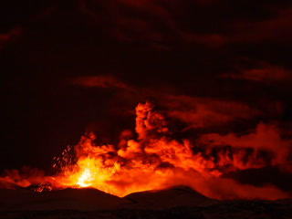 Etna Eruption At Night. Sicily, Italy. Time Laps.  stock footage
