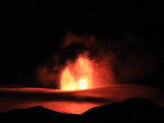 The Eruption Of Mount Etna. Sicily, Italy. 320x240 stock footage