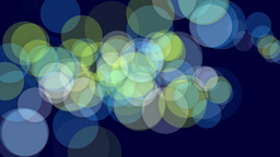 Colorful Dots On Deep Blue Background stock footage