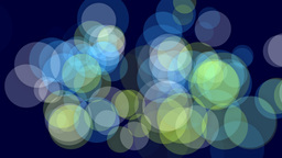 Colorful Dots on deep blue background Stock Video Footage