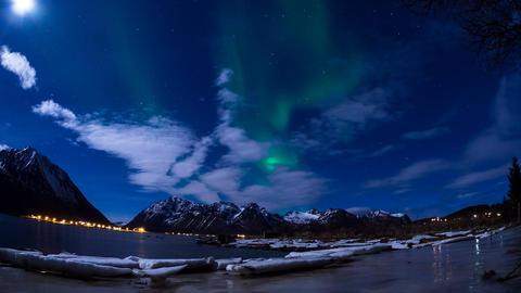 aurora borealis on the Lofoten Footage