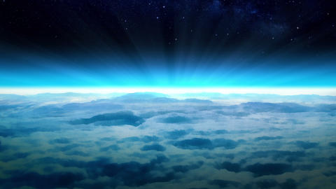 Space Above The Earth stock footage