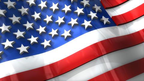 3D flag USA Animation