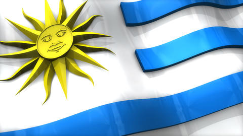 3D flag, Uruguay Animation