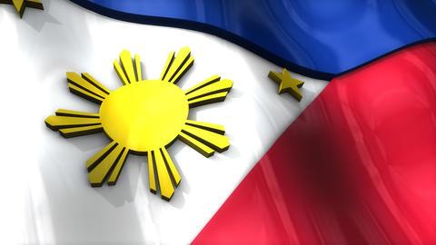 3D flag, Philippines Animation