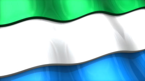 3D flag, Sierra Leone Animation