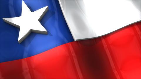 3D flag, Chile Animation