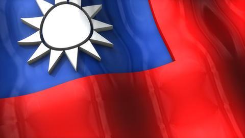 3D flag, Taiwan Animation
