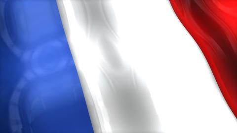 3D flag, France Animation
