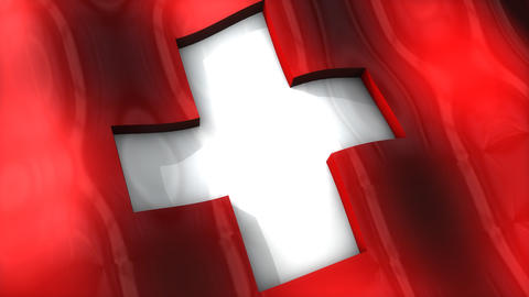 3D flag, Switzerland Animation