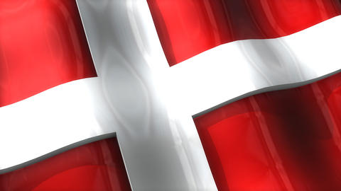 3D flag, Denmark Animation