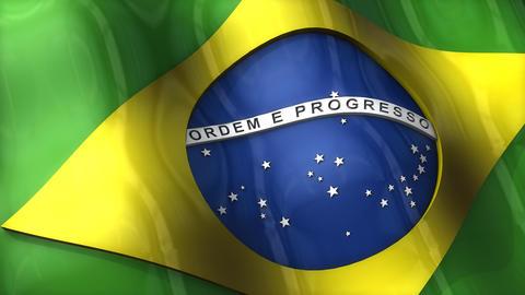 3D flag, Brazil Animation