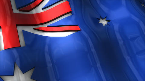 3D flag, Australia Animation