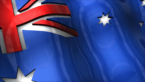 3D flag, Australia, Stock Animation