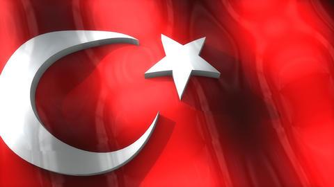 3D flag, Turkey Animation