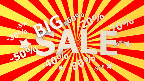 Big Sales Background Animation stock footage