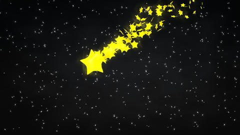 Starry night with meteor Animation