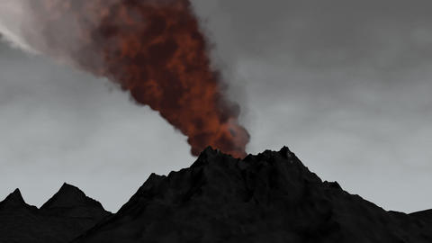 3D animation volcano eruption Animation
