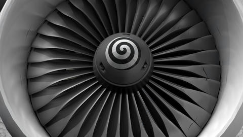 Turbine engine front view, Stock Animation
