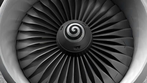 Turbine engine front view Animation