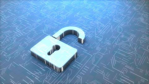 Digital padlock, Stock Animation