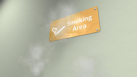 Public smoking area Animation