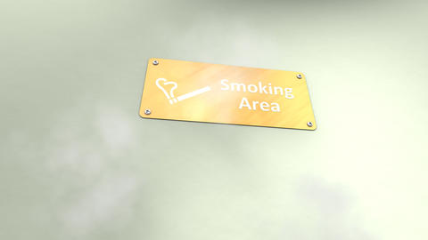Public Smoking Area stock footage