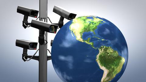 Internet surveillance, concept animation Animation