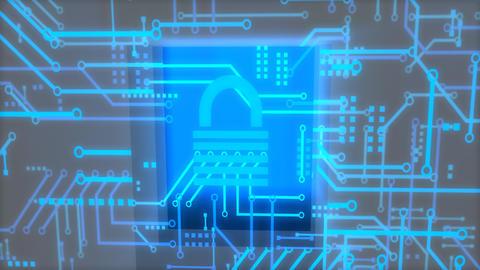Digital security concept animation Animation