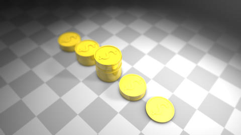 Gold Coin Chart stock footage