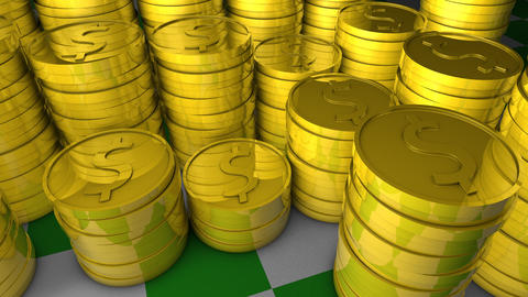 Gold coins Animation