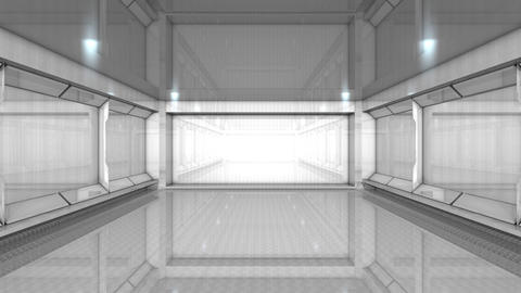 Empty building interior Animation