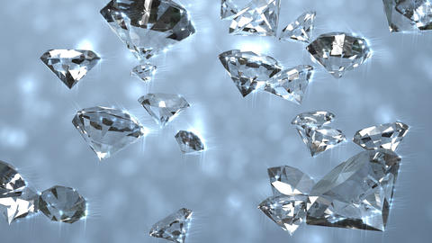 Diamond gemstones Animation