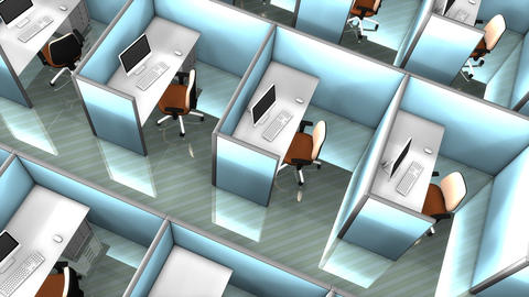 Office cubicles Animation