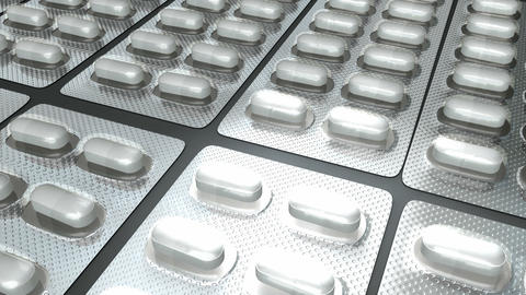 Pill Capsule Blister Pack stock footage