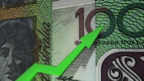 Australian dollar currency value up animation Animation