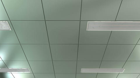 Hospital Ceiling POV stock footage