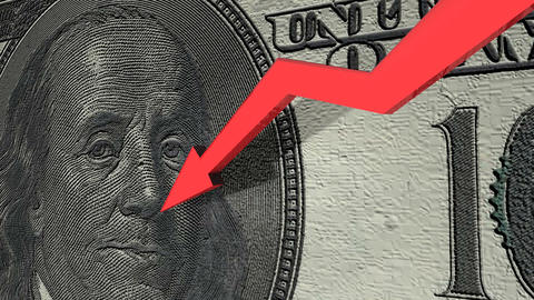 Dollar currency value down Animation