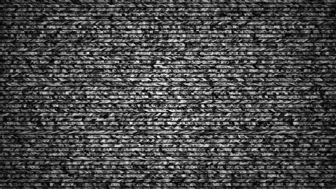 Grained Distorsed TV Noise Seamless Loop stock footage