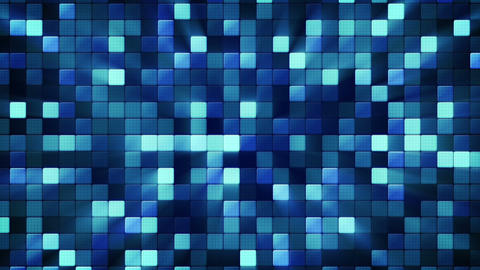 Blue Shiny Mosaic Tiles Loopable Background stock footage