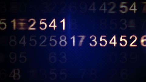 scanning numbers loop background Animation