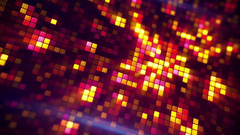 glowing pixels abstract loopable background Animation