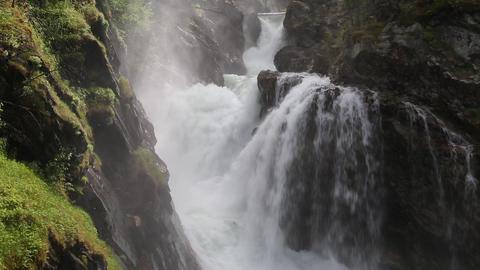 Wasserfall in Norwegen Footage