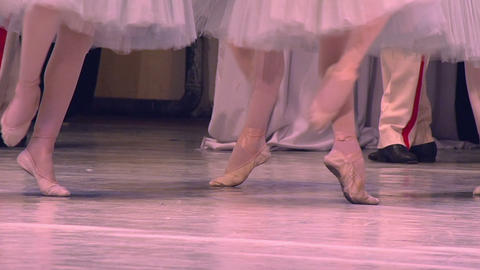 Three Dancers Ballet Footage