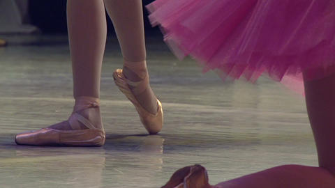 Ballerinas on the Stage Footage