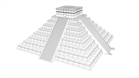 Aztec pyramid Animation