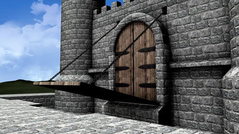 Castle drawbridge Animation
