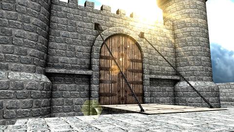 Castle drawbridge Animation