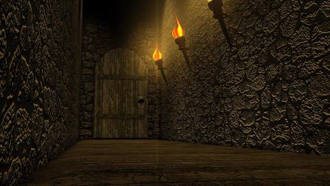 Old castle passageway Animation